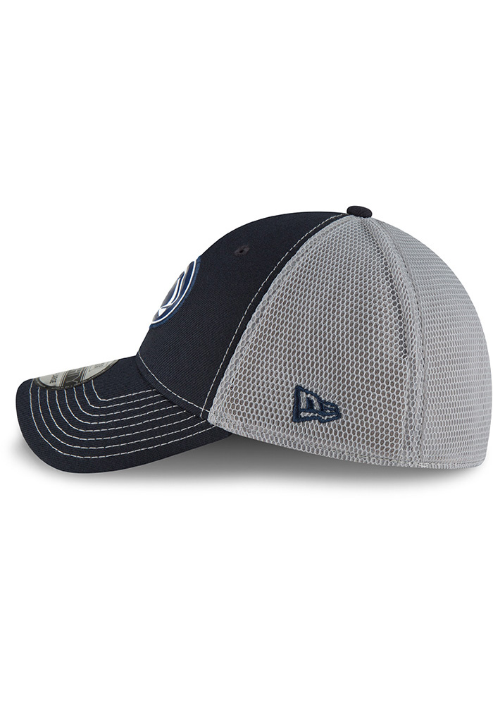New Era Penn State Nittany Lions Mens Navy Blue Fan Mesh 39THIRTY Flex Hat - Image 4