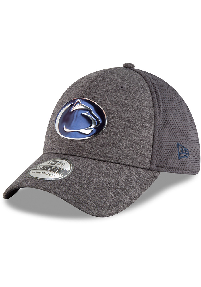 New Era Penn State Nittany Lions Mens Grey Shaded Luster 39THIRTY Flex Hat - Image 1