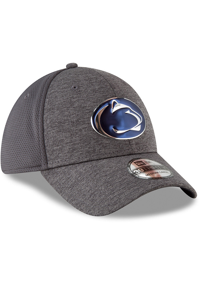 New Era Penn State Nittany Lions Mens Grey Shaded Luster 39THIRTY Flex Hat - Image 2