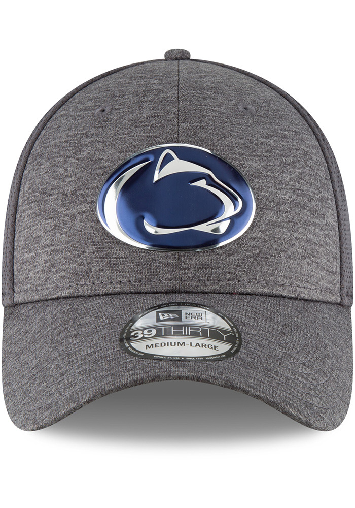 New Era Penn State Nittany Lions Mens Grey Shaded Luster 39THIRTY Flex Hat - Image 3