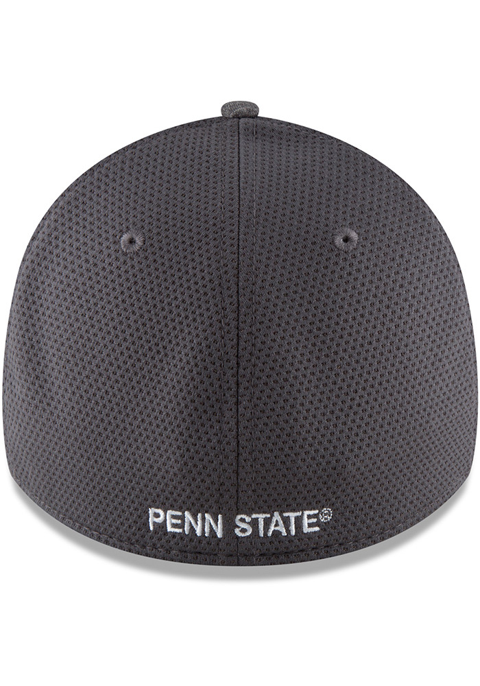 New Era Penn State Nittany Lions Mens Grey Shaded Luster 39THIRTY Flex Hat - Image 5