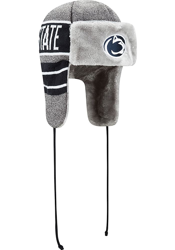 New Era Penn State Nittany Lions Grey Frosty Trapper Mens Knit Hat - Image 2