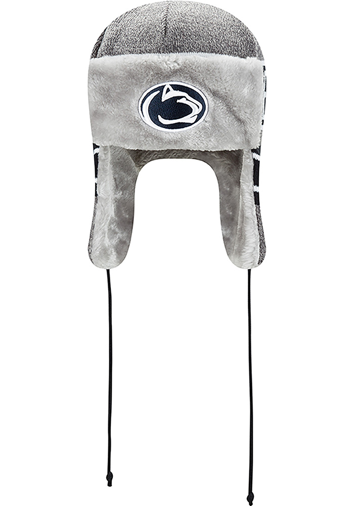 New Era Penn State Nittany Lions Grey Frosty Trapper Mens Knit Hat - Image 3