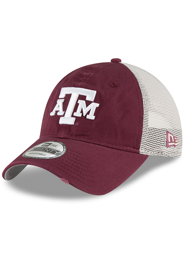 New Era Texas A&M Aggies Stated Back 9TWENTY Adjustable Hat - Maroon - Image 1