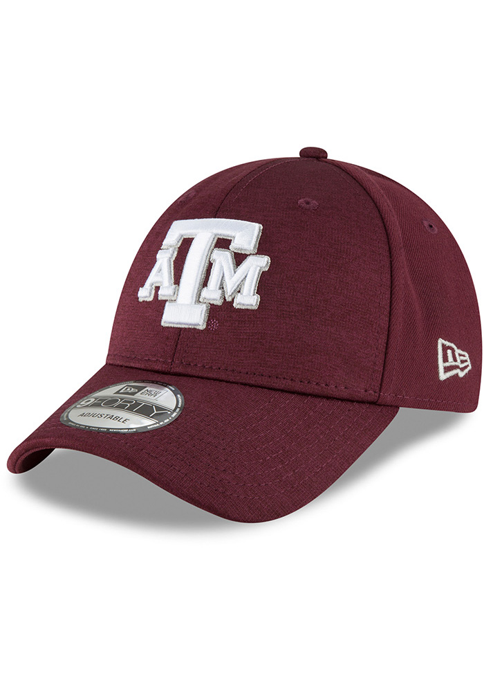 New Era Texas A&M Aggies Shaded Front 9FORTY Adjustable Hat - Black - Image 1