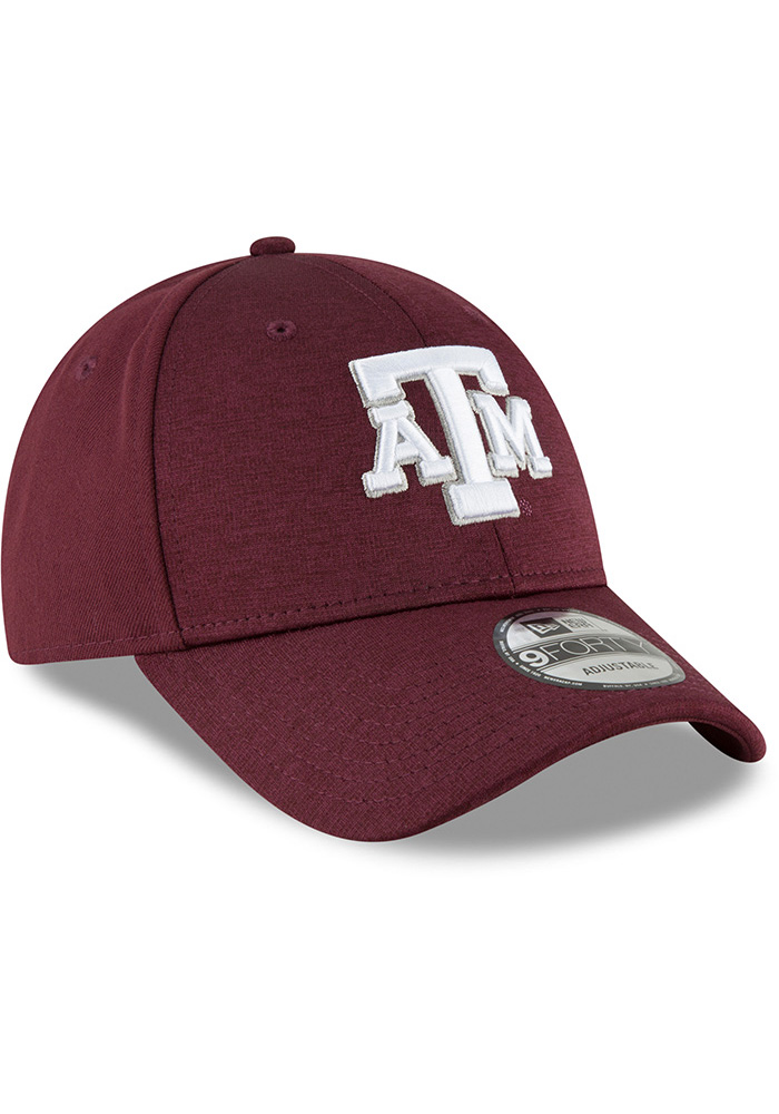 New Era Texas A&M Aggies Shaded Front 9FORTY Adjustable Hat - Black - Image 2