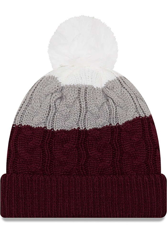 New Era Texas A&M Aggies Maroon Layered Up 2 Womens Knit Hat - Image 2