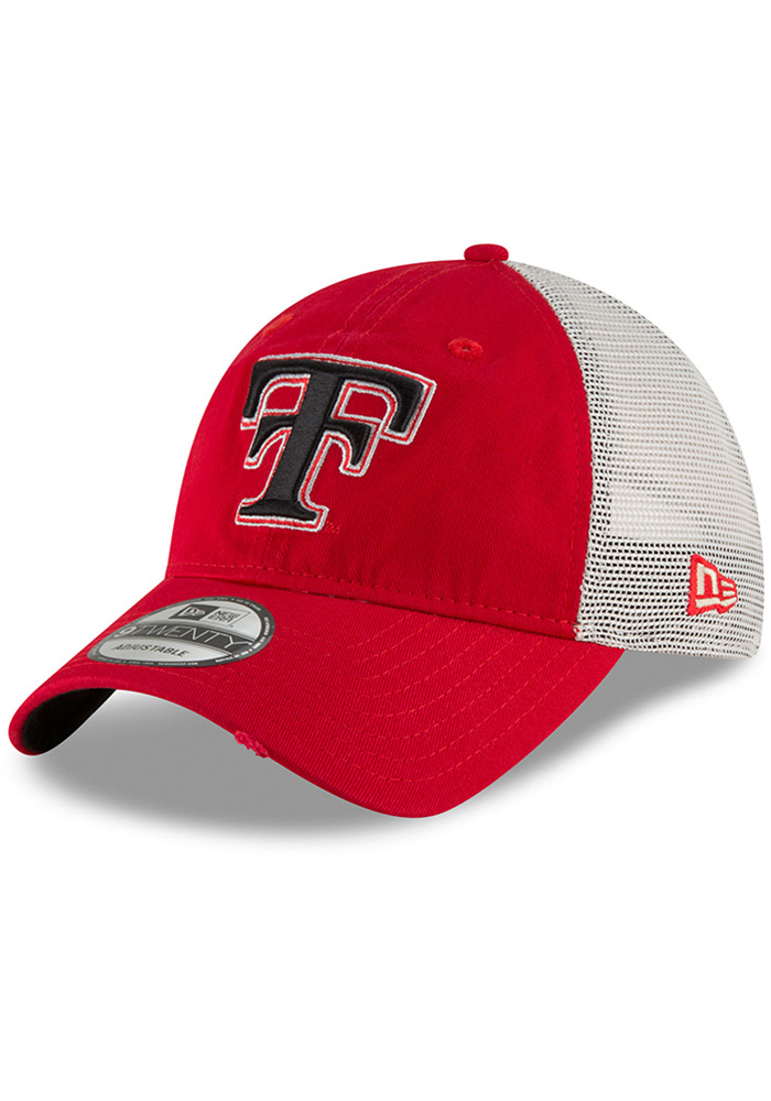 New Era Texas Tech Red Raiders Mens Red Vintage Stated Back 9TWENTY Adjustable Hat - Image 1