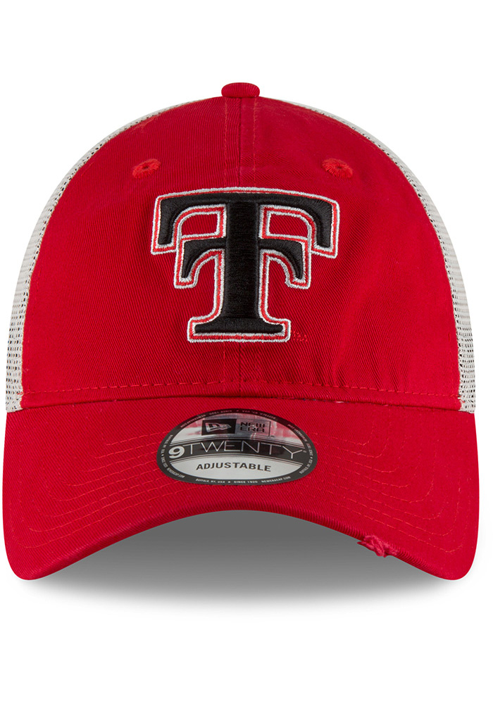 New Era Texas Tech Red Raiders Mens Red Vintage Stated Back 9TWENTY Adjustable Hat - Image 3