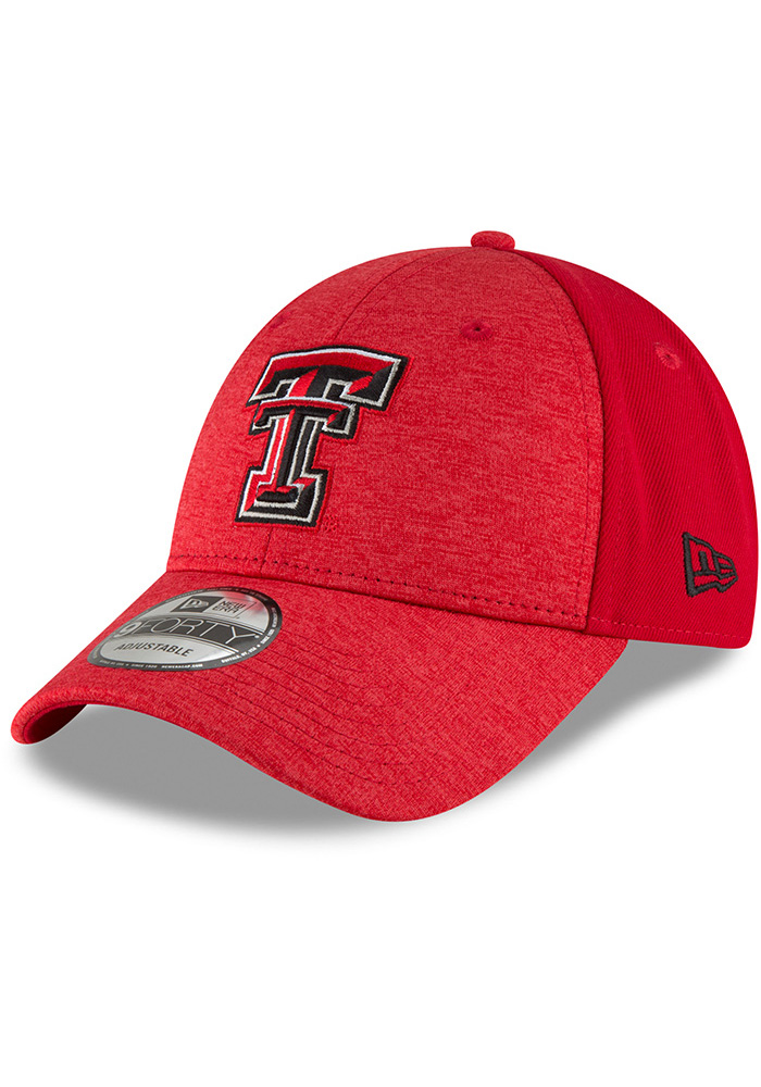 New Era Texas Tech Red Raiders Shaded Front 9FORTY Adjustable Hat - Black - Image 1