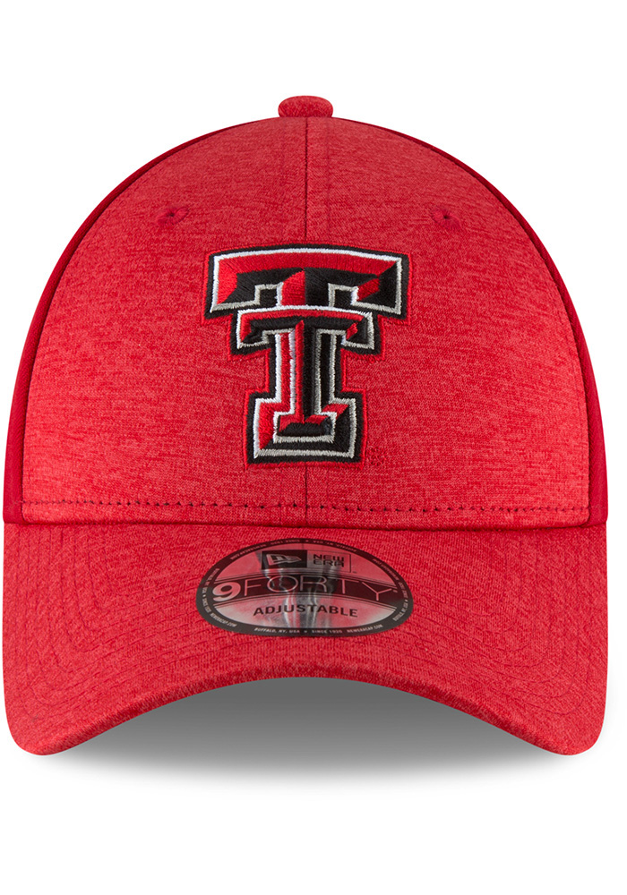 New Era Texas Tech Red Raiders Shaded Front 9FORTY Adjustable Hat - Black - Image 3