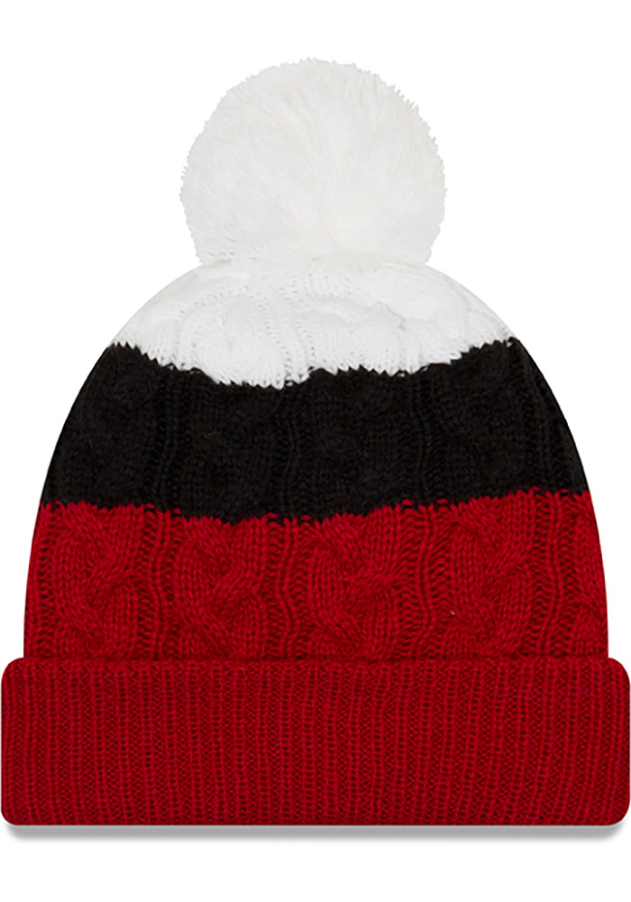 New Era Texas Tech Red Raiders Black Layered Up 2 Womens Knit Hat - Image 2