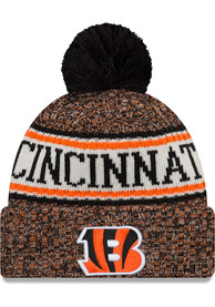 online retailer f8cbf a7d12 New Era Cincinnati Bengals Black NFL18 Official Sport Youth Knit Hat
