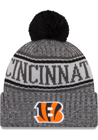 cheaper dfb2f 67d41 New Era Cincinnati Bengals Grey NFL18 Sport Knit Hat
