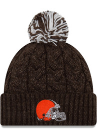 New Era Cleveland Browns Womens Brown Cozy Cable Knit Hat