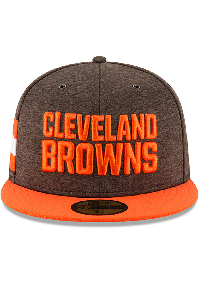 ade4bb610aefa ... purchase new era cleveland browns mens brown nfl18 official sideline  home 59fifty fitted hat 7efc2 6d986
