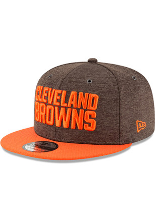 factory authentic fea70 fcc22 New Era Cleveland Browns Brown NFL18 Official Sideline Home 9FIFTY Snapback  Hat