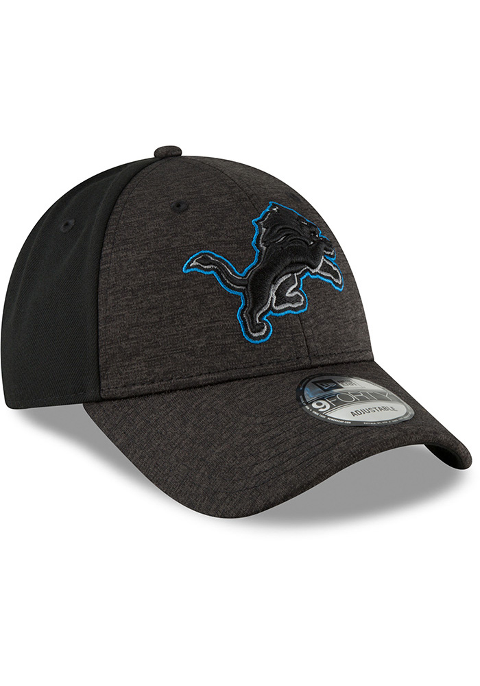 hot sale online b706d d1e2f New Era Detroit Lions Black Shaded Front Jr 9FORTY Youth Adjustable Hat -  Image 2