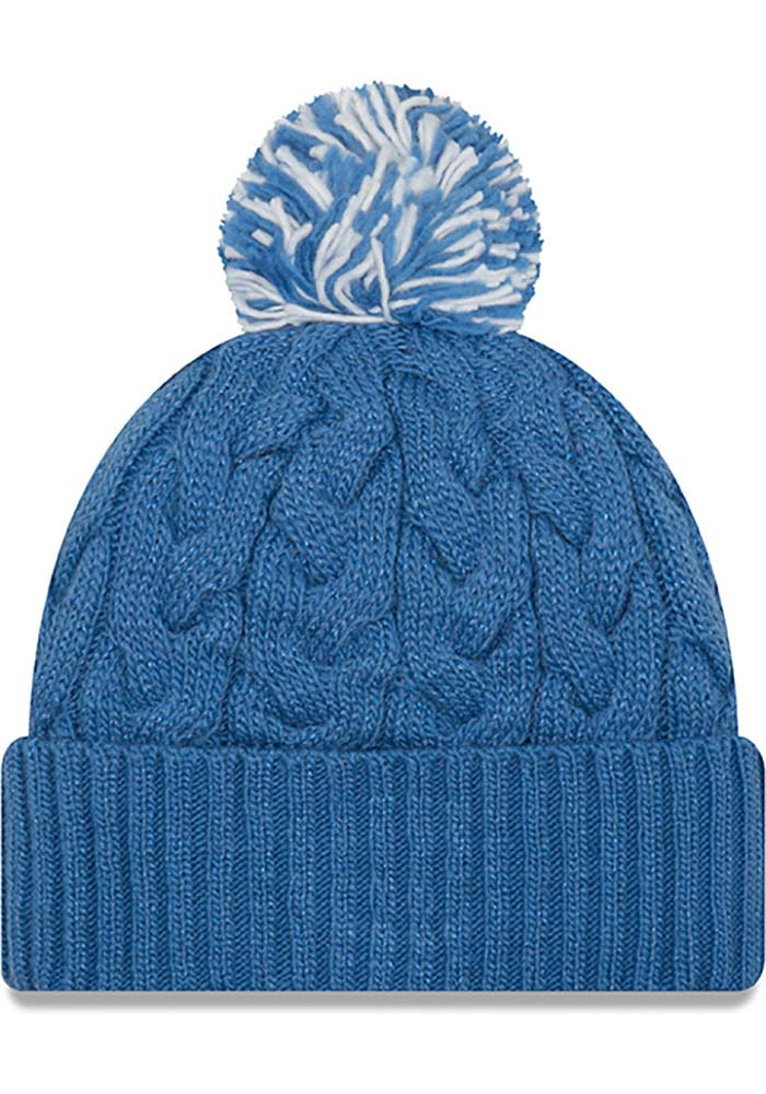 New Era Detroit Lions Blue Cozy Cable Womens Knit Hat - Image 2