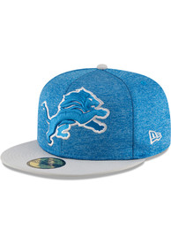 Detroit Lions New Era Blue Heather Huge 59FIFTY Fitted Hat