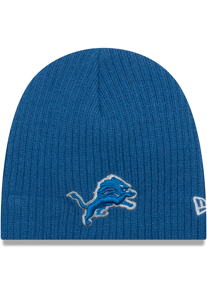 New Era Detroit Lions Blue Mini Fan Baby Knit Hat - Image 1