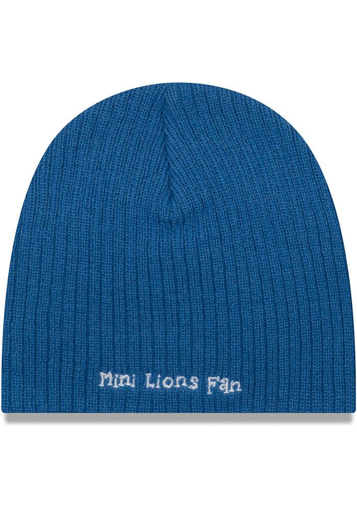 New Era Detroit Lions Blue Mini Fan Baby Knit Hat - Image 2