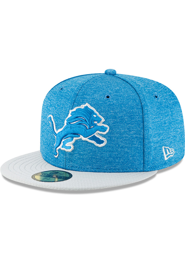 Detroit Lions New Era Blue NFL18 Official Sideline Home 59FIFTY Fitted Hat ea5939f41