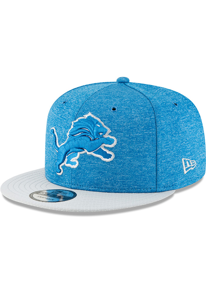 2c8a6b0008a New Era Detroit Lions Blue NFL18 Official Sideline Home 9FIFTY Mens  Snapback Hat - Image 1
