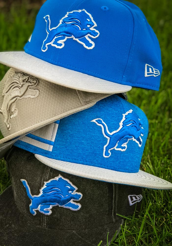 0b41b5ad735 New Era Detroit Lions Blue NFL18 Official Sideline Home 9FIFTY Mens  Snapback Hat - Image 8