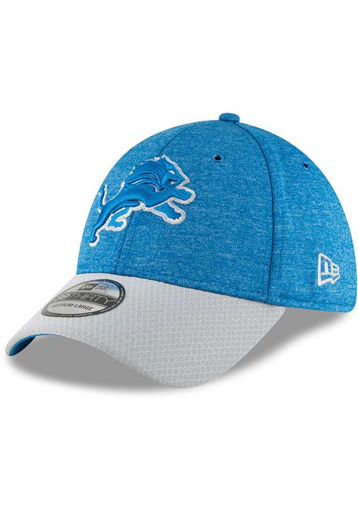 low priced 81592 efa31 New Era Detroit Lions Blue NFL18 Official Sideline Home Jr 39THIRTY Youth  Flex Hat