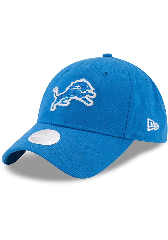 New Era Detroit Lions Womens Blue Team Glisten 9TWENTY Adjustable Hat be085628a