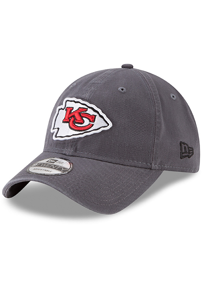 New Era Kansas City Chiefs Mens Grey Core Classic Twill 9TWENTY Adjustable Hat - Image 1