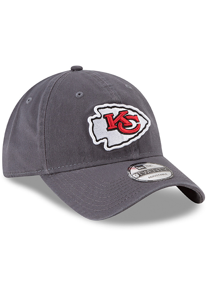 New Era Kansas City Chiefs Mens Grey Core Classic Twill 9TWENTY Adjustable Hat - Image 2