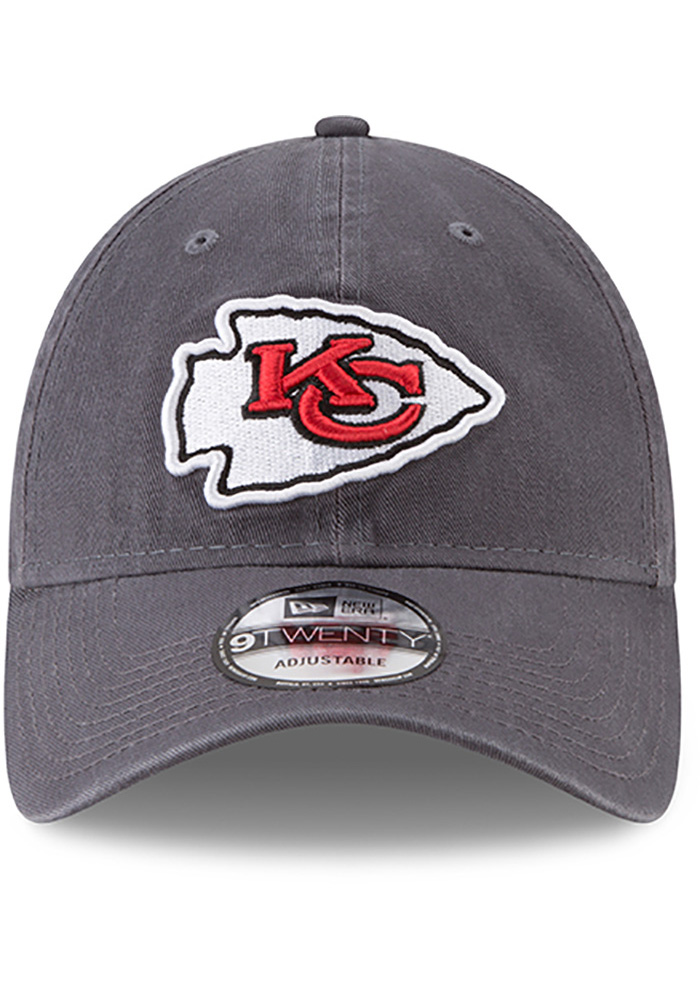New Era Kansas City Chiefs Mens Grey Core Classic Twill 9TWENTY Adjustable Hat - Image 3