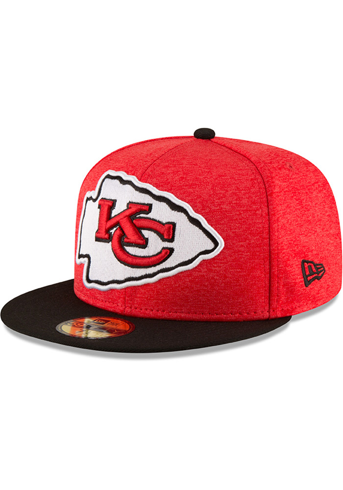 Kansas City Chiefs New Era Red Heather Huge 59FIFTY Fitted Hat 12517b9b12d2