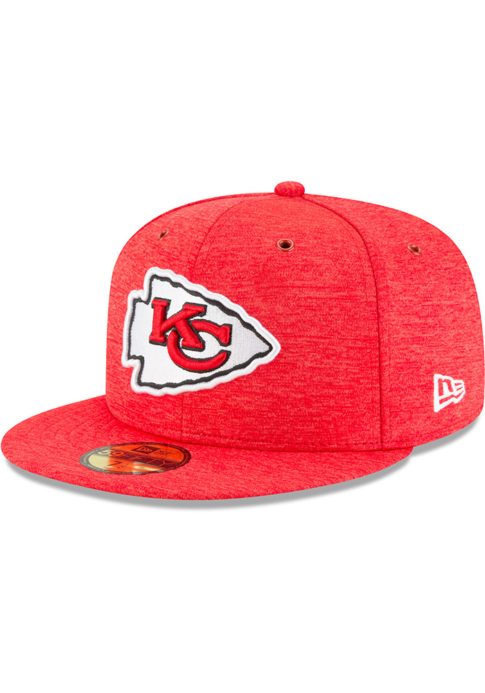 Kansas City Chiefs New Era Red NFL18 Official Sideline Home 59FIFTY Fitted  Hat a1e40437e