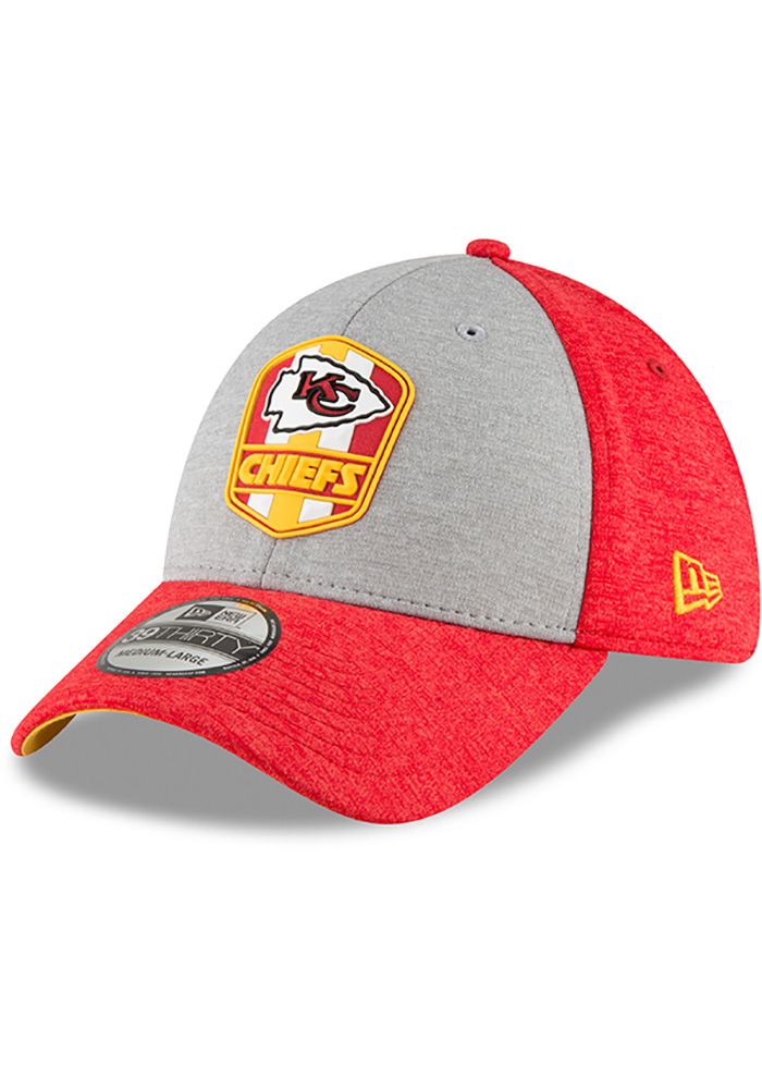 New Era Kansas City Chiefs Red NFL18 Official Sideline Road 39THIRTY Flex  Hat ba4a12a9c