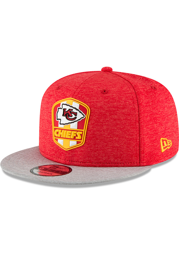 848685a5a New Era Kansas City Chiefs Red NFL18 Official Sideline Road 9FIFTY Snapback  Hat