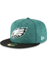 New Era Philadelphia Eagles Black NFL18 Official Sideline Home Jr 59FIFTY Youth Fitted Hat