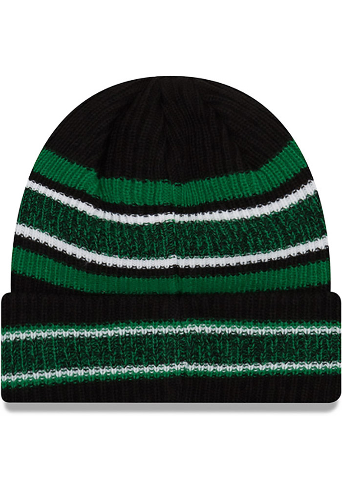 New Era Philadelphia Eagles Black Retro Vintage Stripe Mens Knit Hat - Image 2