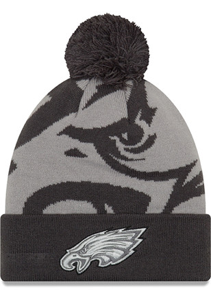 New Era Philadelphia Eagles Grey Logo Whiz 3 Knit Hat 6fb338982d2