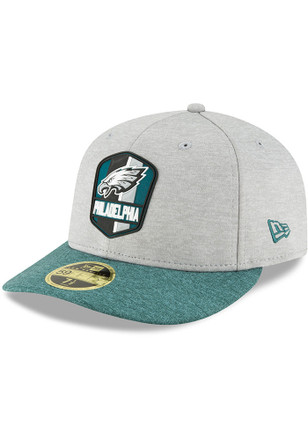 Philadelphia Eagles New Era Grey NFL18 Official Sideline Road LP59FIFTY  Fitted Hat 89c155766e9