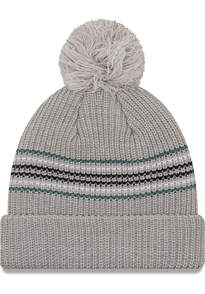 New Era Philadelphia Eagles Grey Snowy Stripe Womens Knit Hat - Image 2