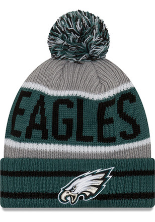 New Era Philadelphia Eagles Green Banner Block Knit Hat 613de0cfcac