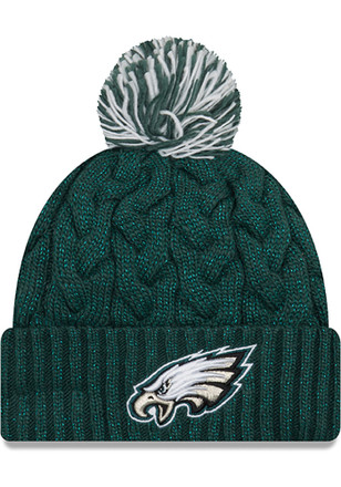 New Era Philadelphia Eagles Womens Green Cozy Cable Knit Hat e4af8a6990b