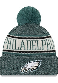 ac3a8912 New Era Philadelphia Eagles Green NFL18 Official Sport Youth Knit Hat