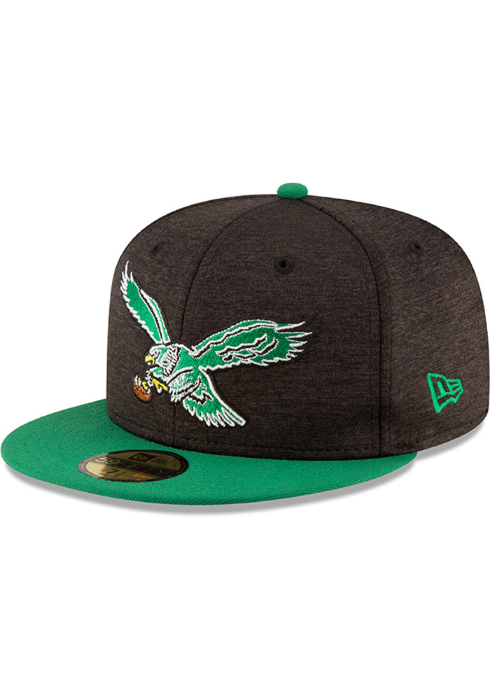 New Era Philadelphia Eagles Mens Red Retro Heather Huge 59FIFTY Fitted Hat - Image 1