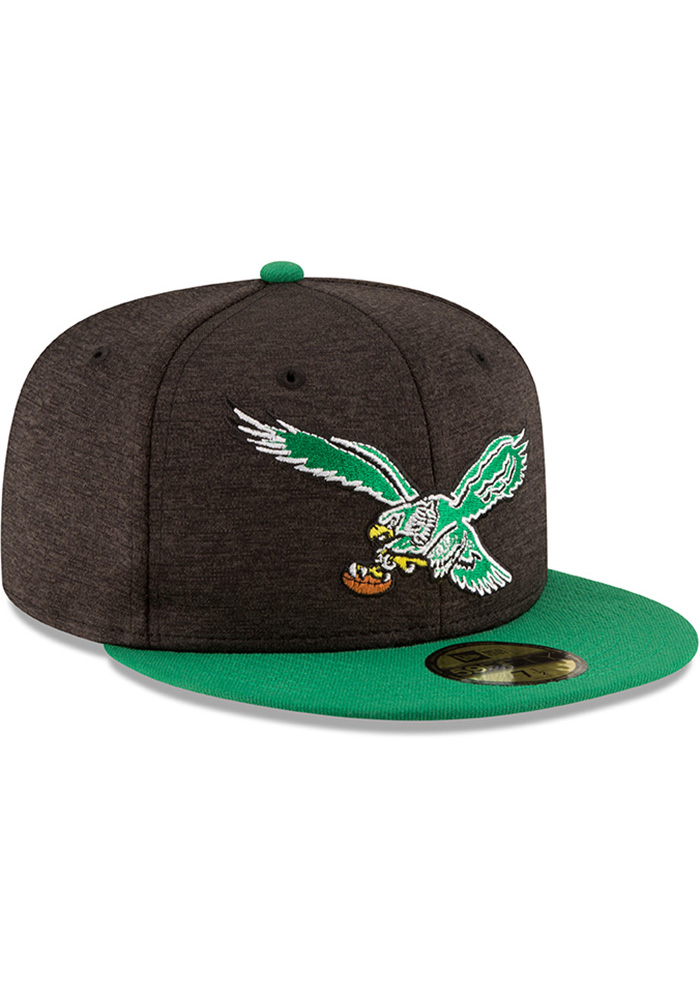 New Era Philadelphia Eagles Mens Red Retro Heather Huge 59FIFTY Fitted Hat - Image 2