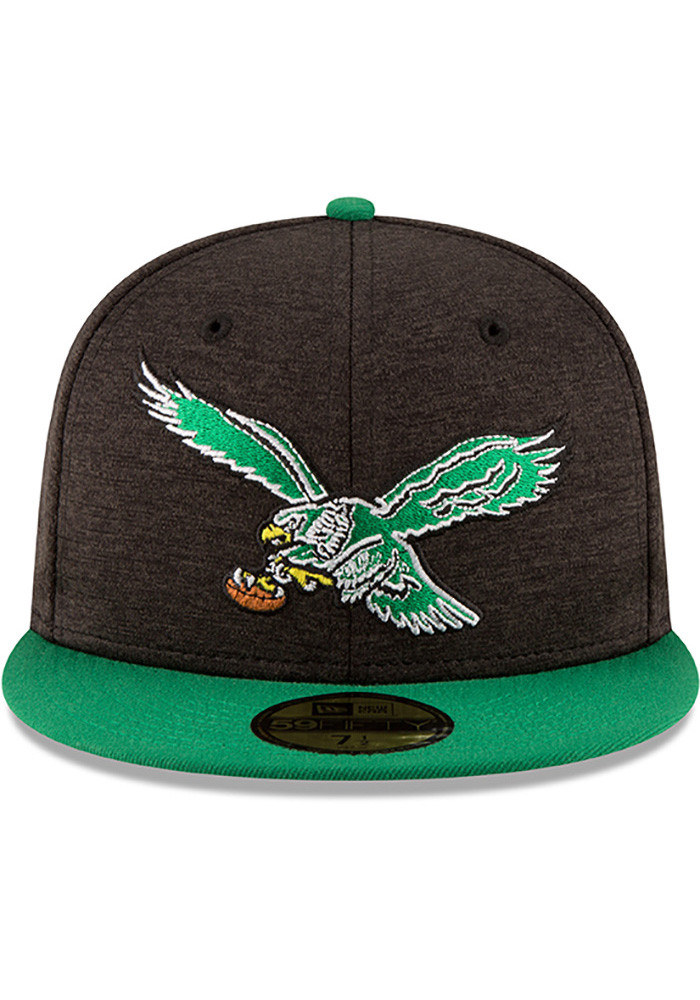 New Era Philadelphia Eagles Mens Red Retro Heather Huge 59FIFTY Fitted Hat - Image 3