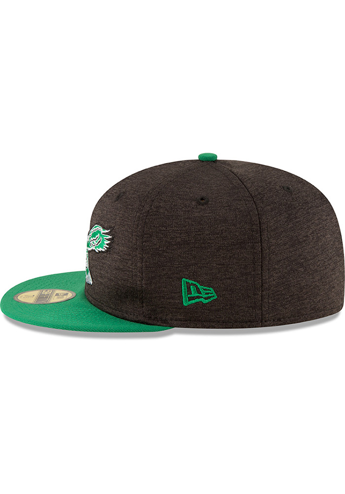 New Era Philadelphia Eagles Mens Red Retro Heather Huge 59FIFTY Fitted Hat - Image 4